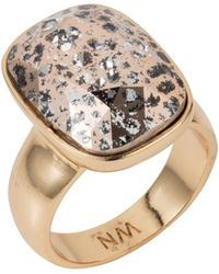 Nadia Minkoff - Oblong Vertical Ring Gold Patina - Lyst