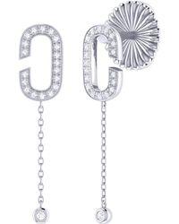 LMJ Celia C Drop Earrings In Sterling Silver - Metallic