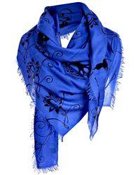 Asneh Lotus Scarf Amparo Blue And Black