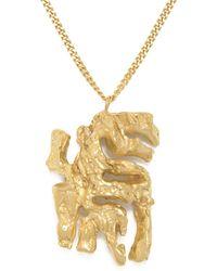 Loveness Lee Chinese Zodiac Tiger Horoscope Gold Pendant Necklace - Metallic