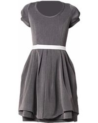 Philosofée Stretch Gabardine Tailor Dress Grey - Gray