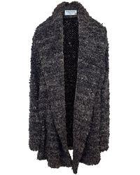 Haris Cotton Oversized Boucle Cardigan - Grey