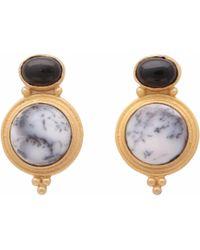 Carousel Jewels - Black Onyx & Dendrite Curio Earrings - Lyst