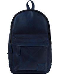 MAHI - Leather Classic Backpack Rucksack In Navy - Lyst