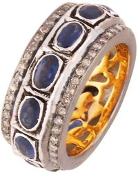 Kastur Jewels Classic Blue Sapphire Ring Band