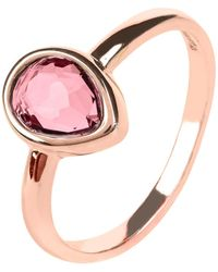 LÁTELITA London Pisa Mini Teardrop Ring Rosegold Pink Tourmaline Hydro - Multicolour