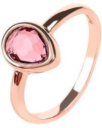 LÁTELITA London - Pisa Mini Teardrop Ring Rosegold Pink Tourmaline Hydro - Lyst