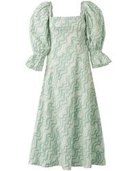 LITTLE THINGS STUDIO Aqua Dress - Blue