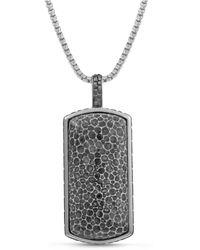LMJ Fossil Agate Stone Tag - Grey