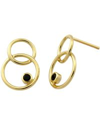 Monarc Jewellery | The Meridian Drop Earrings 9ct Gold + Black Spinel | Lyst