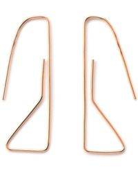 Elsa - Geoneo 9k Rose Gold Paperclip Earrings - Lyst