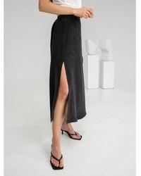 Flow Wrap Me Skirt In Black