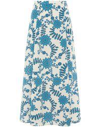 Valle & Vik The Leggy Midi Skirt - Blue