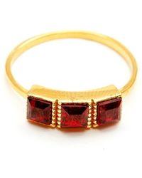 GFG Jewellery by Nilufer - Lara Garnet Triple Ring - Lyst