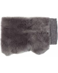 Gushlow and Cole - Lady Grey Hand Knit & Shearling Shrug - Lyst