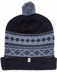 40 Colori - Charcoal-light Blue Norwegian Wool & Cashmere Beanie - Lyst