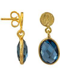 Juvi Designs - Antibes Drop Earrings With Iolite - Lyst
