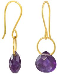 Juvi Designs - Boho Tiny Dancer Earrings With Amethyst - Lyst