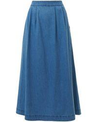 Emily and Fin Briony Light Denim Skirt - Blue