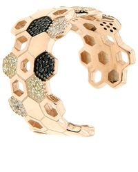 Cosanuova Rose Gold Plated Sterling Silver Honeycomb Bee Ring - Metallic