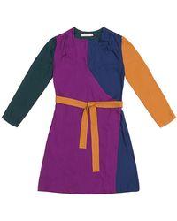 TOMCSANYI Terez Colour Block Wrap Dress - Multicolour