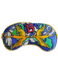 Jessica Russell Flint - B For Birds Silk Eye Mask In Gift Box - Lyst