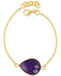 Juvi Designs - Egadi Tear Drop Bracelet With Amethyst - Lyst