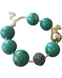 Farra Nugget Bamboo Turquoise Bracelet - Green
