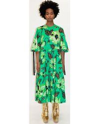 Klements Eidothea Dress In Poison Poppy Print - Green