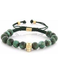 4Fellas - Smart Soul Light Green Calsedon Bracelet - Lyst