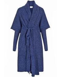 SALANIDA Tesoro Alpaca Blend Coat - Blue