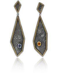 Katarina Cudic - Filum Fancy Sapphire Earrings - Lyst