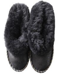 ONAIE Black Sheepskin Slippers