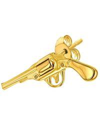 True Rocks - 18kt Gold-plated Retro Pistol Stud - Lyst
