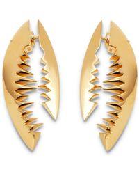 Kasun - Shark Bite Gold Earrings - Lyst