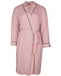 Pretty You London Bamboo Kimono Robe In Pink
