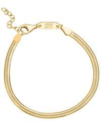 Scream Pretty Gold Flat Snake Chain Bracelet - Metallic