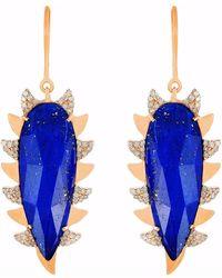 Meghna Jewels - Claw Earring Lapis Alt - Lyst