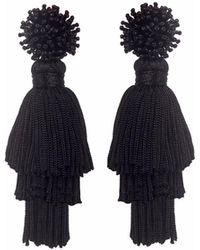 Wafa By Wafa - Black Talea Earrings - Lyst