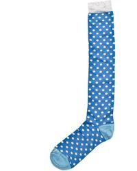KLOTERS MILANO - White Polka Dot Blue Socks - Lyst