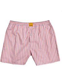 KLOTERS MILANO - Blue Stripe & Peach Boxer Shorts - Lyst