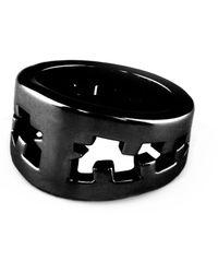 Tissuville Icebreaker Ring Black Shiny - Multicolour