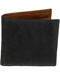 40 Colori | Black Solid Washed Silk & Leather Wallet | Lyst