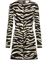 Hayley Menzies Jacquard Knit Mini Dress - Black