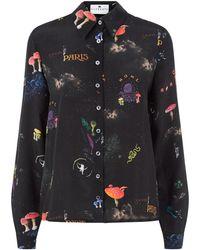 Klements - Mildred Shirt In Kosmos Print - Lyst