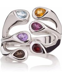 Manja - Multi Coloured Embrace Ring - Lyst