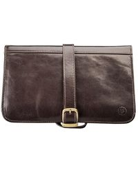 Maxwell Scott Bags - Luxury Italian Leather Men's Hanging Toiletry Bag Pratello Chocolate Brown - Lyst