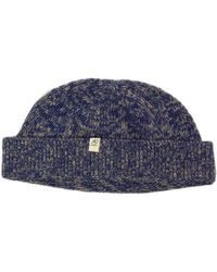 40 Colori Denim Melange Wool & Cashmere Fisherman Beanie - Blue