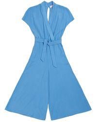TOMCSANYI Budapest Cerulean Kimono Jumpsuit - Blue