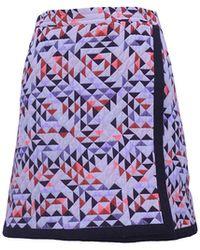 TOMCSANYI - Gizi Quilted Mini Skirt Orange - Lyst